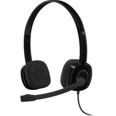 image Logitech H151 Casque Filaire, Ecouteurs Stéréo avec Micro Rotatif Anti-Parasites, Jack Audio 3,5mm, Contrôles Intégrés, PC/Mac/Portable/Tablette/Smartphone - Noir