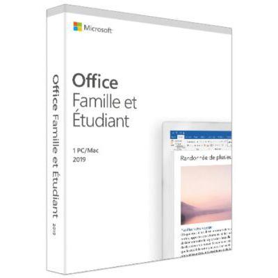 image Microsoft Office Famille et Etudiant 2019 - 1 PC ou Mac - achat définitif (envoi par la poste)