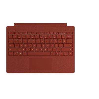 image Microsoft Clavier Signature Type Cover pour Surface Pro - compatible Surface Pro 3/4/5/6/7 (Alcantara, rétroéclairage LED, pavé tactile en verre) - Clavier AZERTY français - Rouge Coquelicot