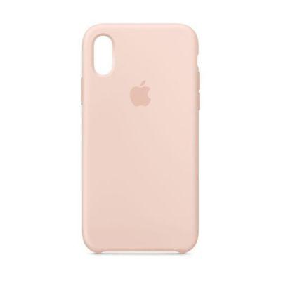 image produit Apple Coque en Silicone (pour iPhone XS) - Rose des Sables - livrable en France