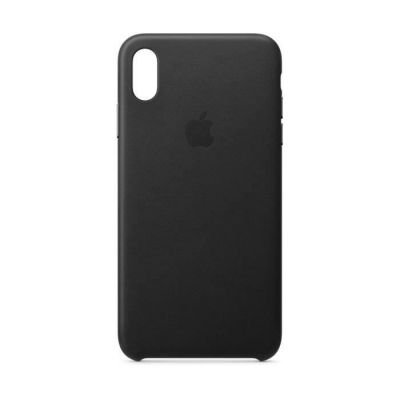 image Apple Coque en Cuir (pour iPhoneXSMax) - Noir