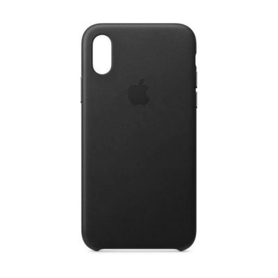 image Apple Coque en Cuir (pour iPhoneXS) - Noir