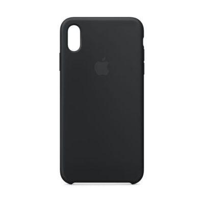 image Apple Coque en silicone (pour iPhone XS Max) - Noir
