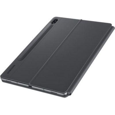 image Samsung Book Cover Keyboard EF-DT860 - Clavier et étui - avec pavé Tactile - POGO pin - Gris - pour Galaxy Tab S6