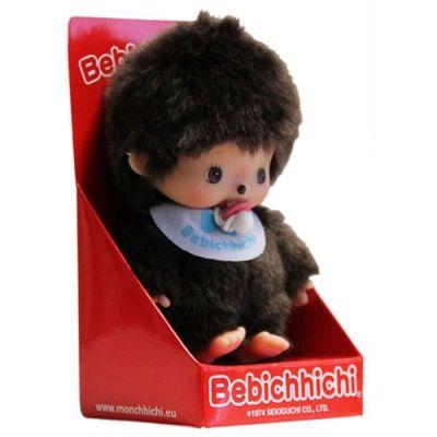 Bandai - Monchhichi - peluche - Bébichhichi garçon bavoir bleu 12 cm - - 23554