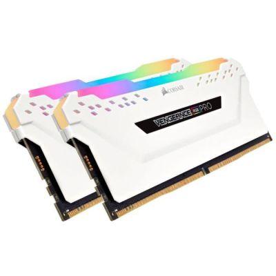 image Corsair Vengeance RGB PRO - Kit de Mémorie Enthousiaste (sans mémoire intégrée) Eclairage LED RGB dynamique - Blanc