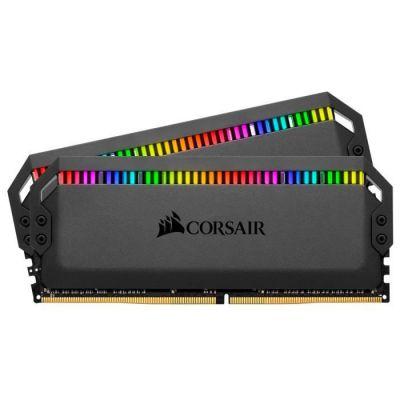 image Corsair Dominator Platinum RGB 16Go (2x8Go) DDR4 3600MHz C18, Eclairage LED RGB dynamique Kit de Mémoire – Noire