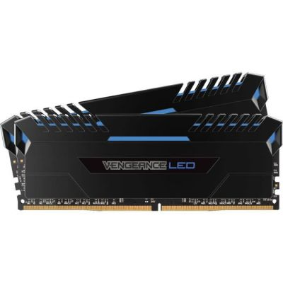 image Corsair Vengeance LED - Kit de Mémorie Enthousiaste (16Go (2x8Go), DDR4, 3200MHz, C16, XMP 2.0) - Noir con Bleu LED