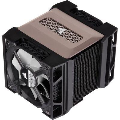 image Corsair A500, Ventirad à Double Ventilateur Haute Performance (Refroidissent jusqu'à 250W TDP, Système de Support pour Ventilateur Intuitif de type glissière, Deux Ventilateurs Corsair ML120) Noir