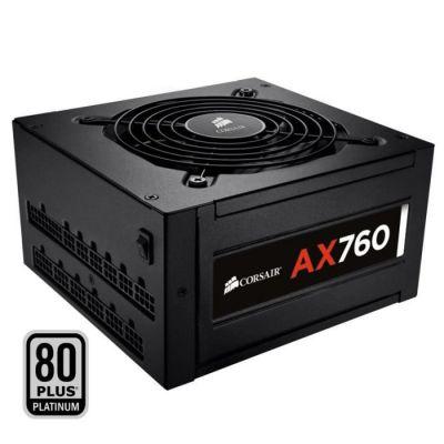 image Corsair AX760 Alimentation PC (Modulaire Complet, 80 PLUS Platinum, 760 Watt, EU)