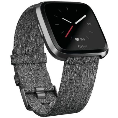 image Fitbit Versa - Montres Connectées Forme, Sport et Bien-être : Plus de 4 Jours d'autonomie, Étanche, Suivi Fréquence Cardiaque, Graphite