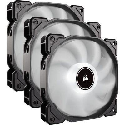 image Corsair AF120, Air Series, 120mm LED Ventilateur Silencieux - Blanc (Pack Triple)