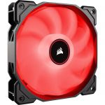 Corsair AF140, Air Series, 140mm LED Ventilateur Silencieux - Rouge (Pack Individuel)