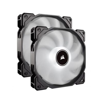 image Corsair AF140, Air Series, 140mm LED Ventilateur Silencieux - Blanc (Pack Double)