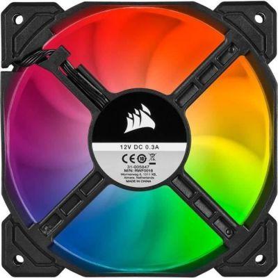 image Corsair iCUE SP120 RGB PRO, 120mm LED RGB, Silencieux, Flux d'air élevé, Ventilateur de Refroidissement (Single pack)