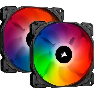 image Corsair iCUE SP140 RGB PRO, 140mm LED RGB, Silencieux, Flux d'air élevé, Ventilateur de Refroidissement (Double Pack)