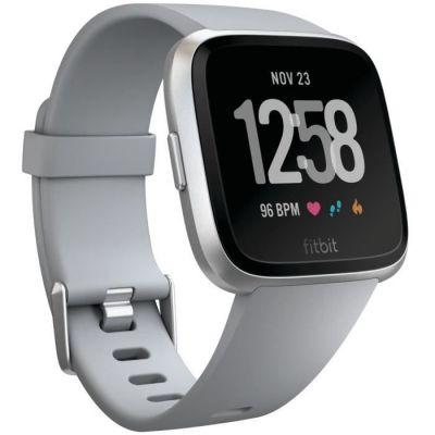 image Fitbit Versa - Montres Connectées Forme, Sport et Bien-être : Plus de 4 Jours d'autonomie, Étanche, Suivi Fréquence Cardiaque, Argent