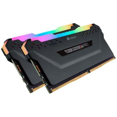 image Corsair Vengeance RGB PRO - Kit de Mémorie Enthousiaste (sans mémoire intégrée) Eclairage LED RGB dynamique - Noir