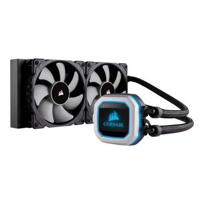 image CORSAIR HYDRO Series H100i PRO RGB Refroidissement Liquide, Radiateurs 240mm, Deux Ventilateurs PWM ML120 & Vengeance LPX 16Go (2x8Go) DDR4 3000MHz
