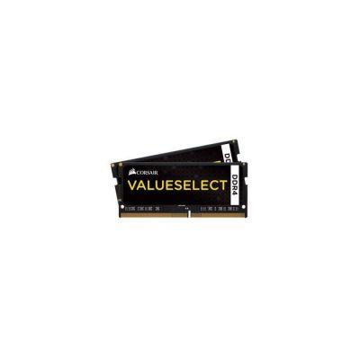 image Corsair CMSO16GX4M2A2133C15 Value Select 16GB (2x8GB) DDR4 2133Mhz CL15 Mémoire pour ordinateur portable SODIMM (260 Pin), Noir