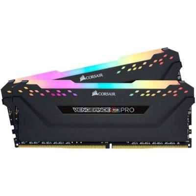 image Corsair Vengeance RGB PRO - Kit de Mémoire Enthousiaste (16Go (2x8Go), DDR4, 3000MHz, C15, XMP 2.0) Eclairage LED RGB Dynamique - Noir