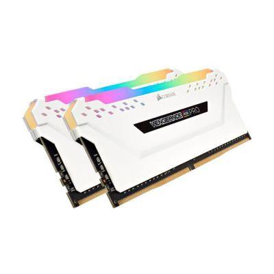 image Corsair Vengeance RGB PRO - Kit de Mémoire Enthousiaste (16Go (2x8Go), DDR4, 3200MHz, C16, XMP 2.0) Eclairage LED RGB Dynamique - Blanc
