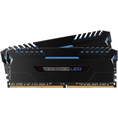 image Corsair Vengeance LED - Kit de Mémorie Enthousiaste (16Go (2x8Go), DDR4, 3000MHz, C15, XMP 2.0) - Noir con Bleu LED