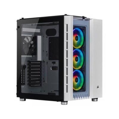 image Corsair Crystal Series 680X RGB, Flux d'air élevéen Verre Trempé ATX Astucieux Gaming Boîtier - Blanc