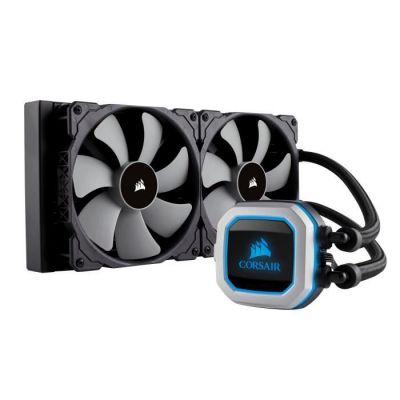 image CORSAIR HYDRO Series H115i PRO RGB Refroidissement Liquide, Radiateurs 280mm, Deux Ventilateurs PWM ML140, Eclairage RGB Avancé, Compatible Socket Intel 115x/2066 et AMD AM4