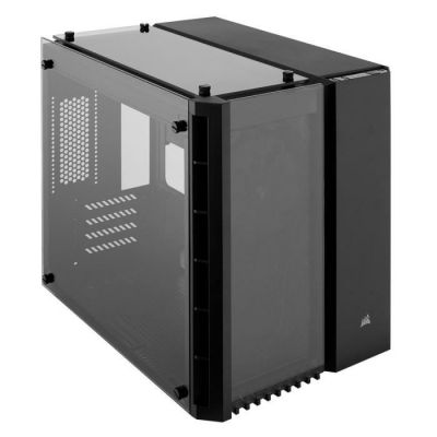 image Corsair Crystal 280X Boîtier de PC (Micro ATX Verre Trempés) Noir