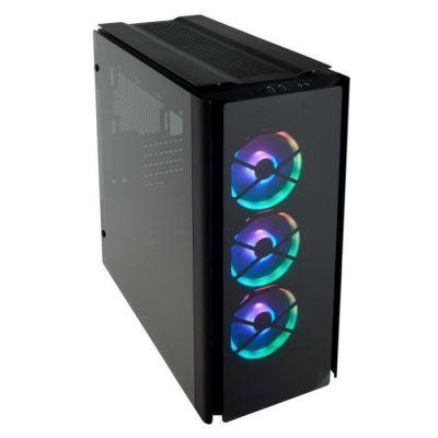 image Corsair Obsidian 500D RGB SE Boîtier Gaming (Moyen-Tour Aluminium et Verre Trempé Premium avec Ventilateurs LL120 et Commander PRO inclus)