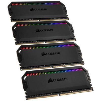 image Corsair Dominator Platinum RGB 32Go (4x8Go) DDR4 3200MHz C16, Eclairage LED RGB dynamique Kit de Mémoire – Noire