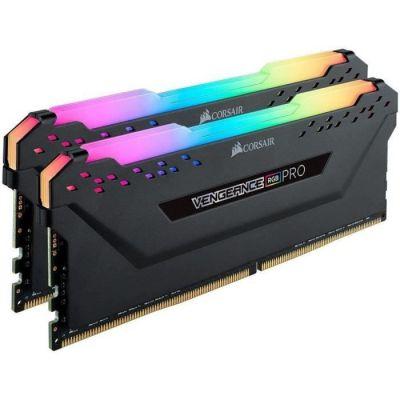 image Corsair Vengeance RGB PRO - Kit de Mémorie Enthousiaste (16Go (2x8Go), DDR4, 3200MHz, C16, XMP 2.0) Eclairage LED RGB dynamique - Noir