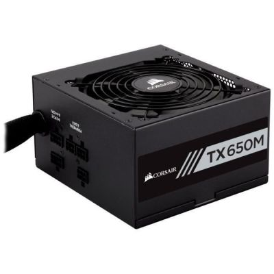 image Corsair TX650M Alimentation PC (Semi-Modulaire, 80 PLUS Gold, 650 Watt, EU)