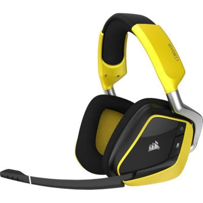 image Corsair VOID PRO RGB WIRELESS Edition Spéciale Casque Gaming (PC, Sans Fil, Dolby 7.1) Jaune/Noir