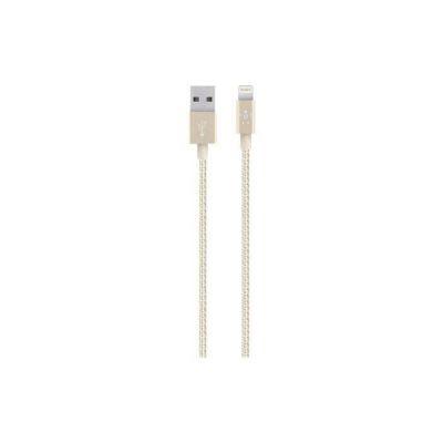 image Belkin Câble Lightning vers USB MIXIT↑ METALLIC  (Câble de Recharge Certifié Apple MFi pour iPhone et iPad, 1,2 m, Or)