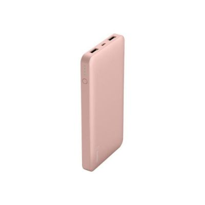 image Belkin Batterie externe Pocket Power Bank 10000 mAh (rechargement rapide) pour iPhone 11, 11 Pro, 11 Pro Max, X, XS, XS Max, XR, SE, 8/8+, iPad, Samsung Galaxy S10/S10+/S10e – Or Rose