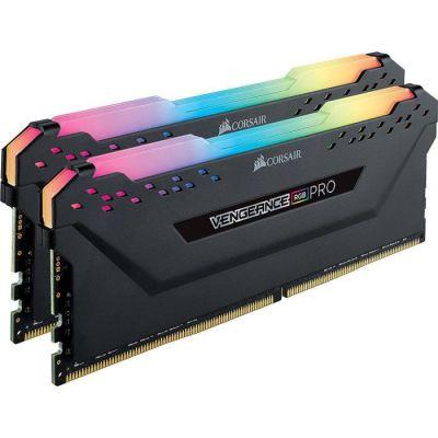 image Corsair Vengeance RGB PRO - Kit de Mémorie Enthousiaste (16Go (2x8Go), DDR4, 2666MHz, C16, XMP 2.0) Eclairage LED RGB dynamique - Noir