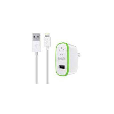 image Belkin - Chargeur Secteur USB 12W/2.4A avec Câble Lightning pour iPhone et iPad - 1,2m (Certifié Apple MFI)
