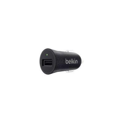 image produit Belkin - Chargeur Premium Allume-cigare USB Universel, 12W/2.4A pour Smartphone et Tablette - Noir Métallique (Compatible iPhone 8/8+ et iPhone X) - livrable en France