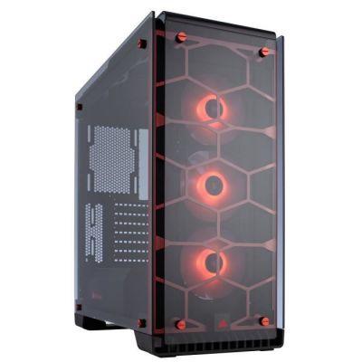 image Corsair Crystal 570X RGB Boîtier PC Gaming (Moyenne Tour ATX avec Fenêtre en Verre Trempé avec trois SP120 RGB Ventilateur) Rouge